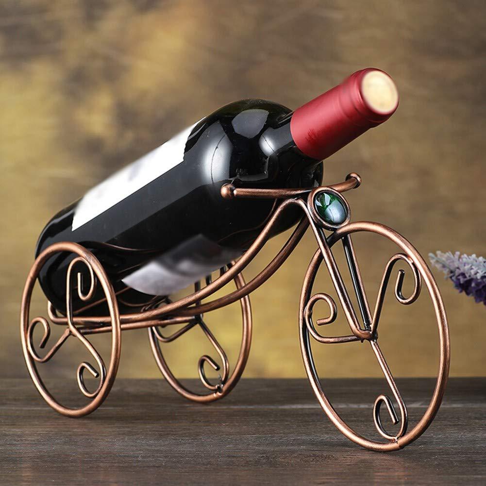 WSGZH Estante para Vino Estante Estante Estante De Vino De Hierro Forjado Estante para Botella Decorativo Set De Vino Estilo Europeo Simple Familia Bronce 71844a