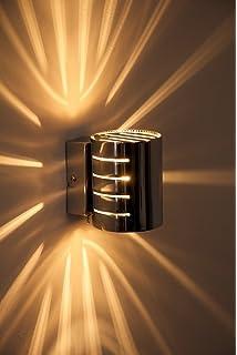 Wandleuchte Ponte In Chrom   Wand Lampe Mit Tollen Licht Und  Schatteneffekten   Wohnzimmer Wandlampe