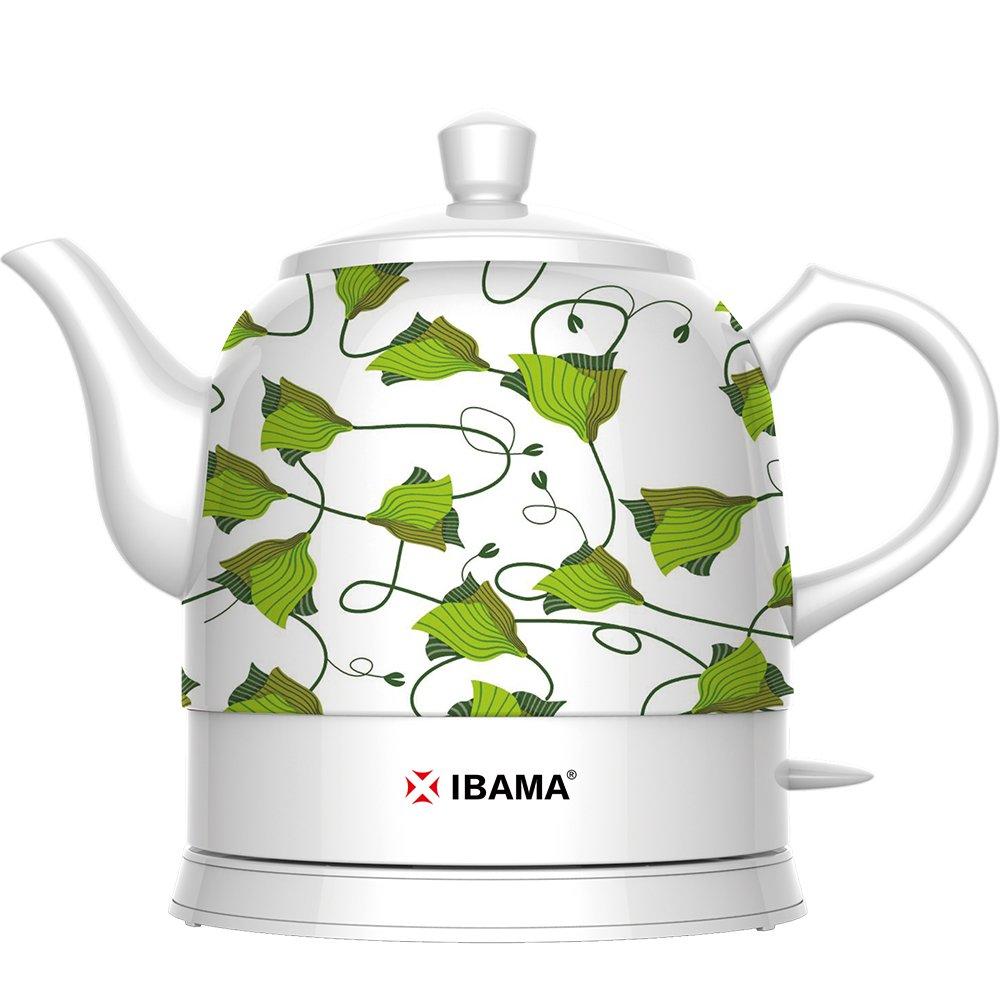 IBAMA Tetera eléctrica de cerámica, tetera de agua sin cuerda, 1, 3 ...