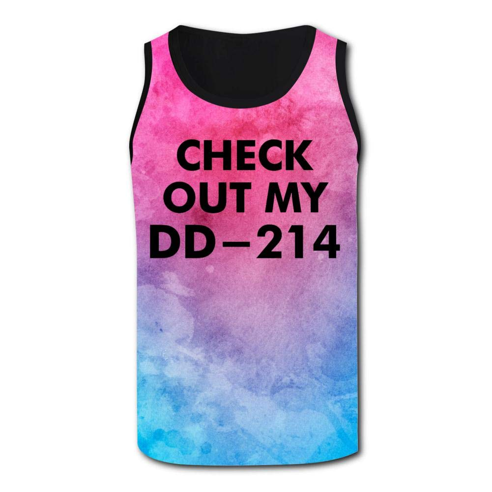 Mens Outdoor Sport Check Out My DD-214 Tank Top Vest T-Shirt Fast Drying Stylish Sleeveless Tee