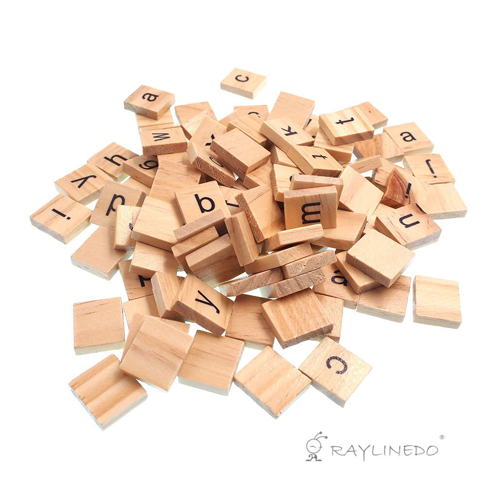 e7c193052eb2 Raylinedo 200X Wooden Scrabble Tiles Letter Alphabet Scrabbles Number  Crafts English Words LOWERCASE MIXED: Amazon.ca: Toys & Games