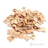 Raylinedo 200X Wooden Scrabble Tiles Letter