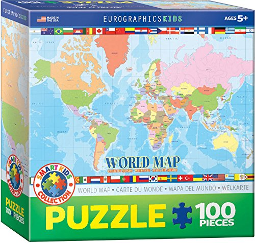 World Map 100 Piece Jigsaw Puzzle
