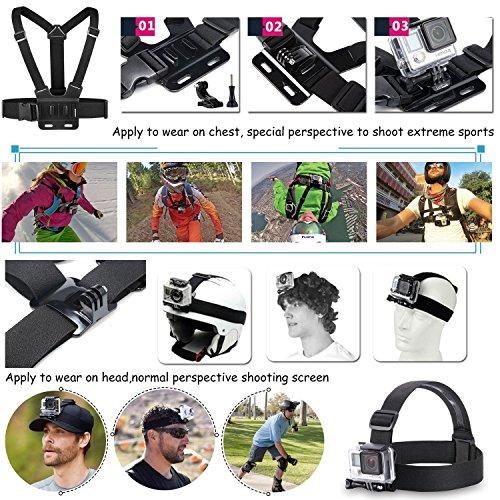 Vanwalk 23-1 Valor Pack de accesorios Kit para GoPro héroe 4 Sesión Negro / Plata héroe LCD + 3 + 3 2, Sj40 26.99€