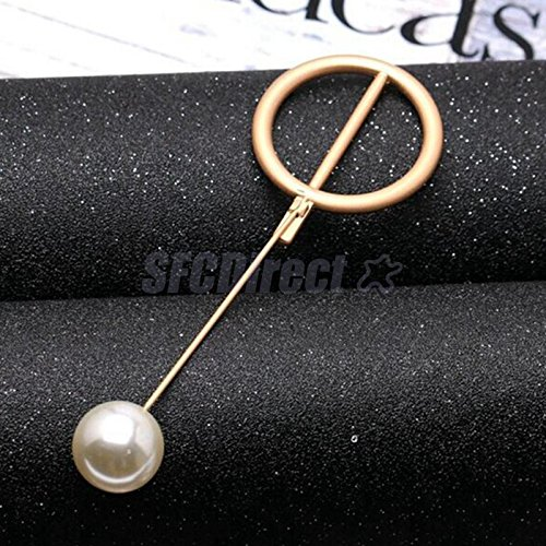 1pc Gold Circle Brooch Pins Collar Suit Stick Breastpin Womens Clothing Accs (Circle Gold Brooch)