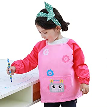 Age 12-16 years Smock O-Kinee Childrens Kids Painting Apron Art Smock Kids Painting Craft Play Baking Cooking Apron Pottery Lab School Boys Girls