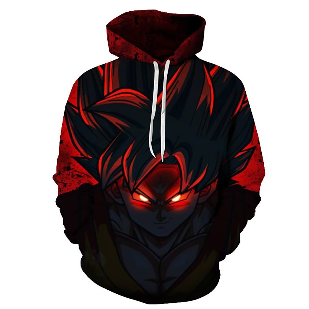 Men's Hoodie 3D Digital Printing Dragon Ball Anime Pullover Fashion Long-Sleeved Hoodie Casual Comfortable Sports Tops (Color : 1, Size : 5XL) feN