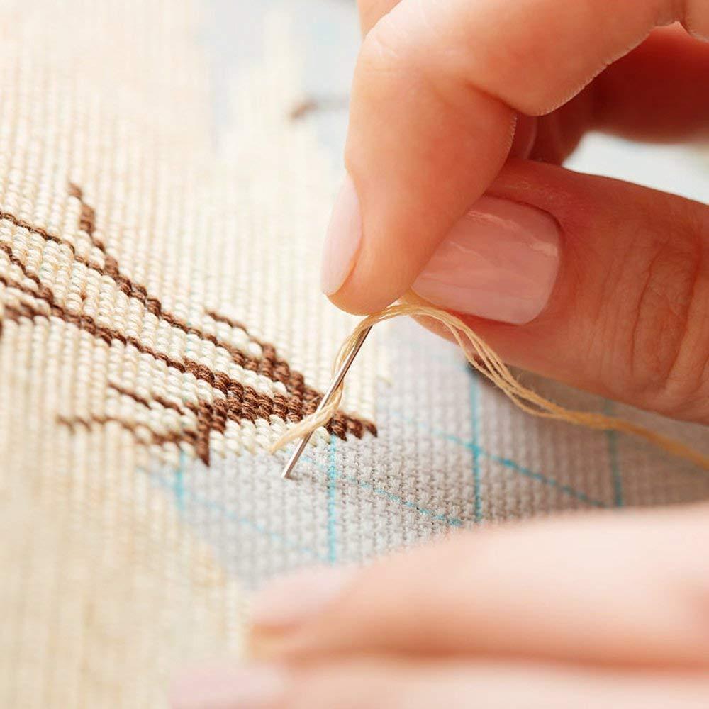 4/x curvo aghi set di 5,1/cm 7,6/cm 8,9/cm 10,2/cm curvo ago da cucito riparazione cucito aghi da cucito assortiti curvo.