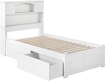 Amazon Com Atlantic Furniture Bed Twin White Furniture Decor