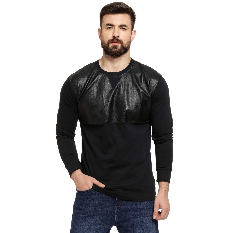 Campus Sutra Men's Solid Regular fit T-Shirt