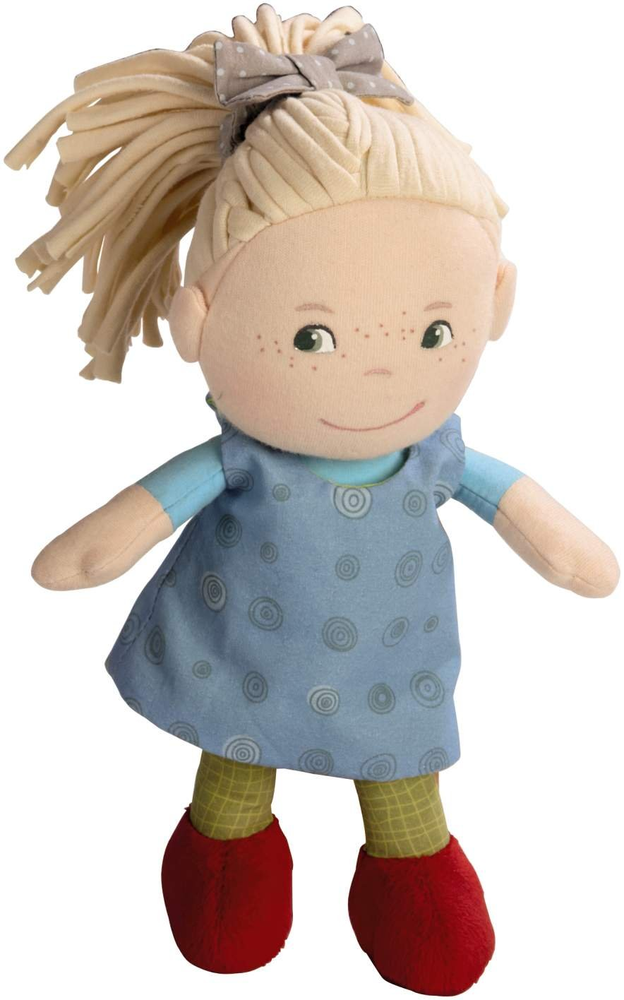 First Baby Doll with Blonde Pony Tail for Ages 6 Months HABA Soft Doll Mirle 8 5738