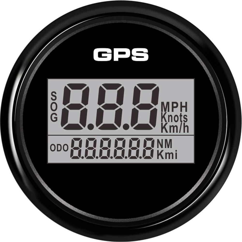 BLUERICE 7 Backlight 52mm Universal GPS Speedometer SOG ODO Meter for Motorcycle Car Truck Boat Yacht