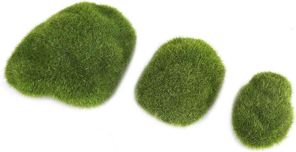 Simulation Künstlicher Moosball Fake Stein Realistisch 24PCS Garten Grün