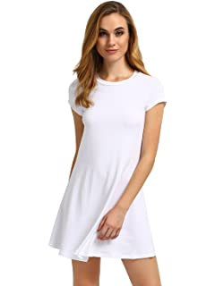 c8a0237242 HDE Women s Casual Cotton Jersey Knit Short Sleeve Slip-On Mini ...