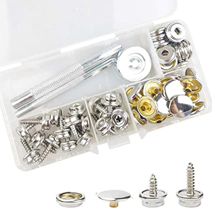 Details about  /20Pieces Stainless Steel Marine Grade Canvas and Boat Cover Snap Button Fastener