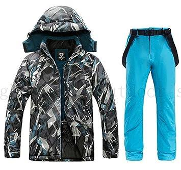 Traje de esquiar Chaqueta impermeable for los hombres de esquí ...