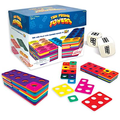 Junior Learning Ten Frame Towers Board Games: Game: Toys & Games
