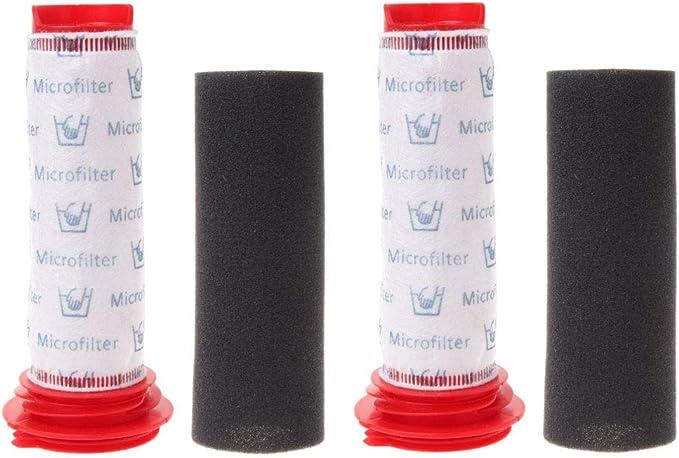 Rediboom Paquete de 2. Filtros de Espuma y Filtros Microsan para Aspiradoras inalámbricas Bosch BCH6ZOOO Zooo ProAnimal y Bosch BBH625W60 Athlet: Amazon.es: Grandes electrodomésticos