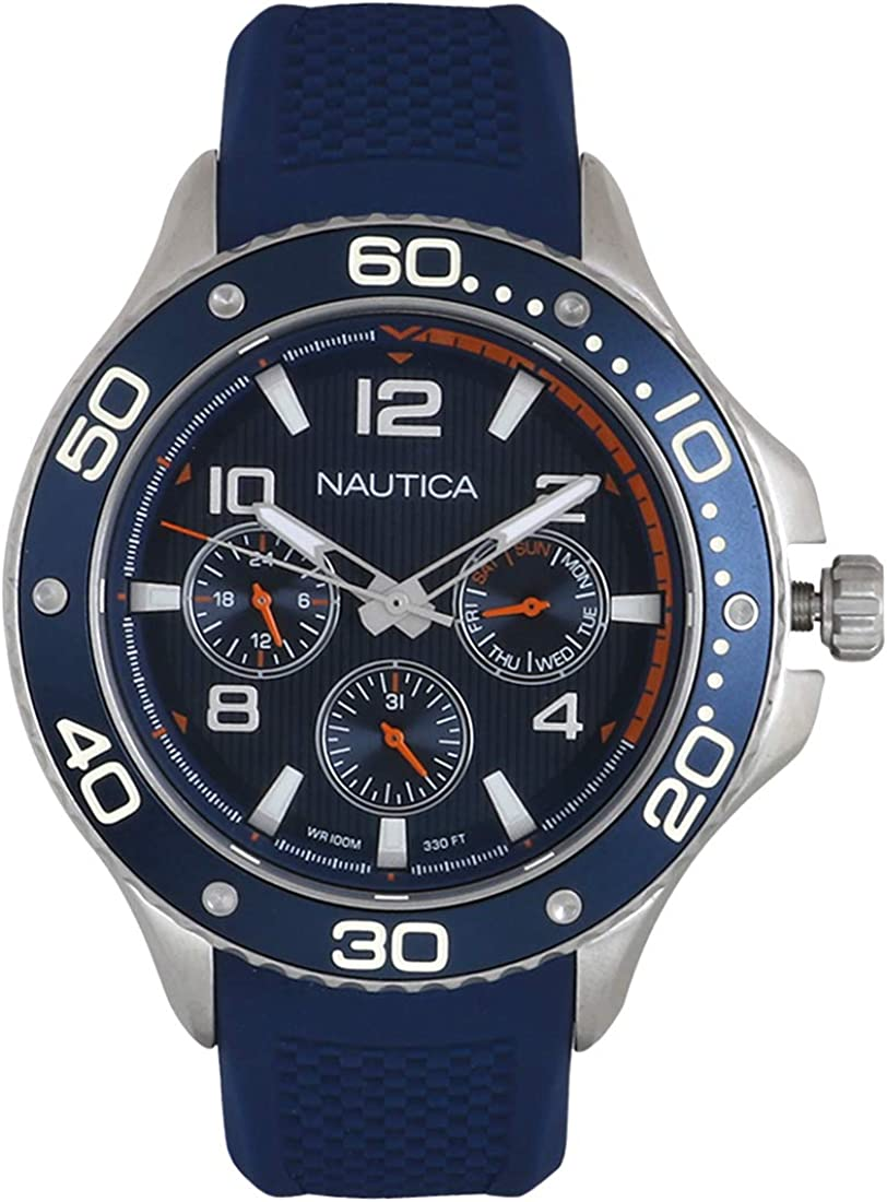 Nautica Men s Quartz Resin Silicone Watch