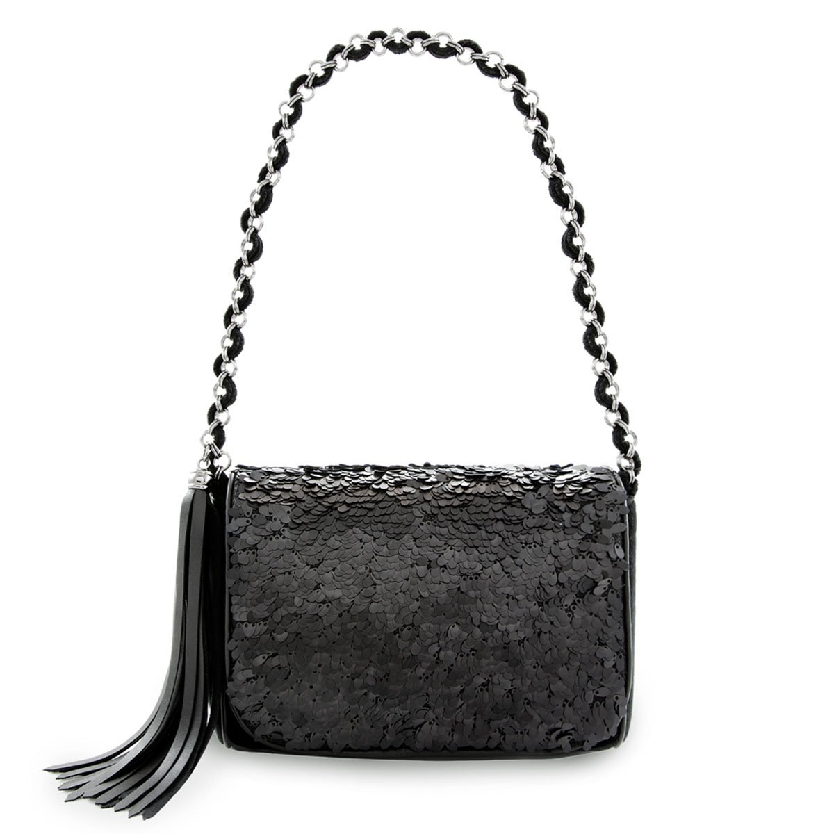 Eric Javits Luxury Fashion Designer Women's Handbag - Spangle Bag - Black