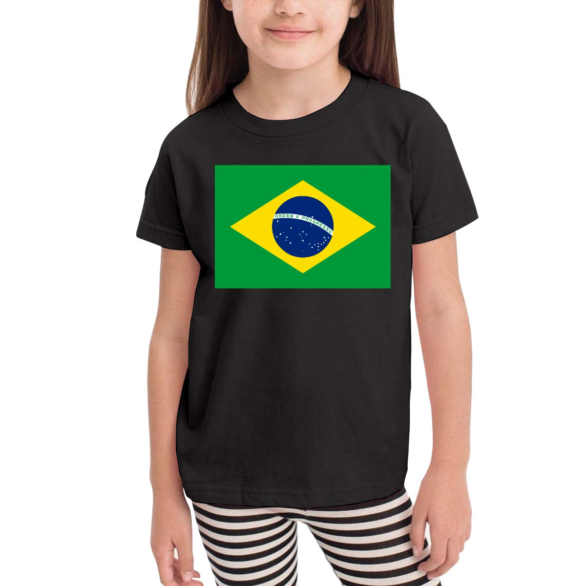 2-6T Kawaii Blouse Clothes Vy91Lk-8 Short-Sleeve Flag of Brazil T-Shirts for Kids