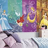 RoomMates JL1391M Disney Princess Scenes X-Large Chair Rail Prepasted Mural, Ultra-strippable, 6' x 10.5'