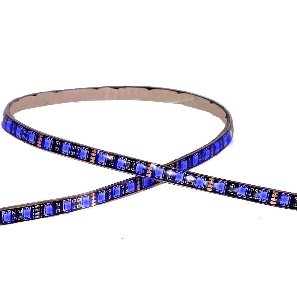 Maxxima MLS-3654BL Blue 36 LED Self-Adhesive Strip Light