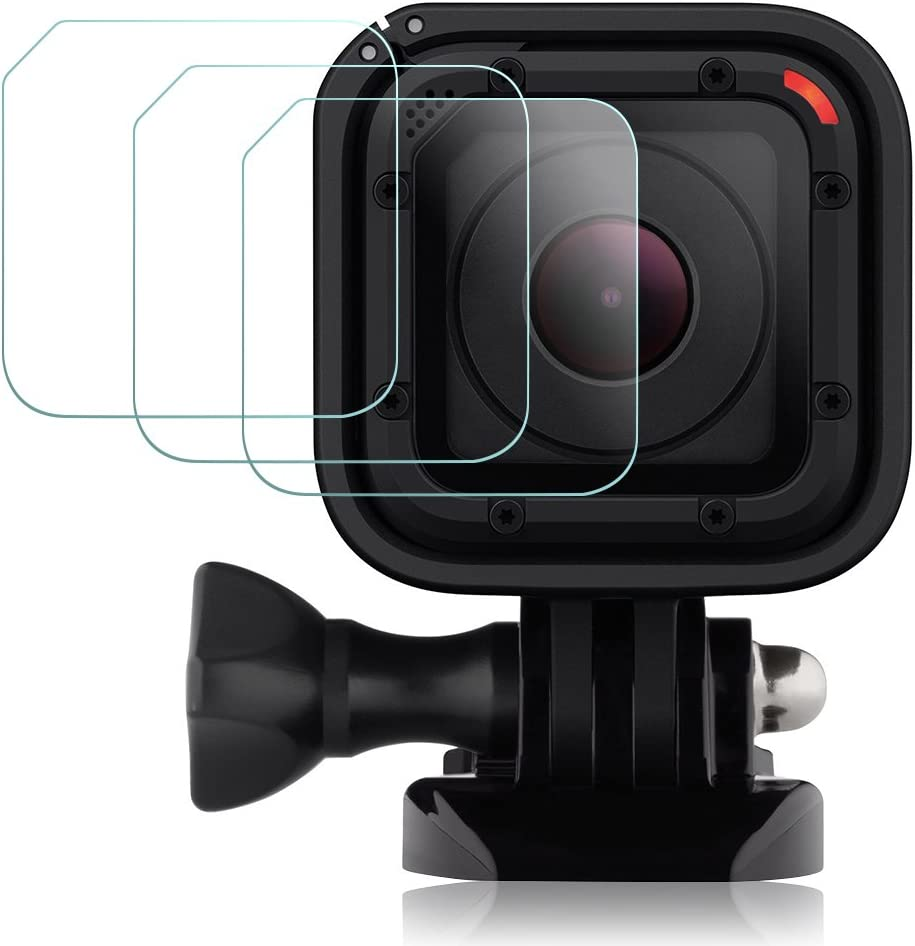 Anti-Scratch Compatible Hero6 Hero5 Tempered Glass Film Accessory Screen and Lens 4 Pcs AFUNTA 2 Pack Screen Protector Compatible 2018 Hero 7 6 5 Black Sport Camera