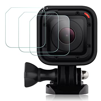 Protector de Pantalla para GoPro Hero4 Hero5 Session, AFUNTA 3 Pack Anti-rasguños Antireflejante Impermeable Vidrio templado Hero 4 5 Session ...