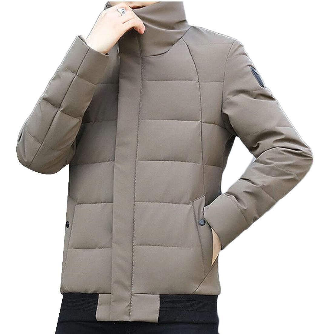 mydeshop Men Puffer Down Coats Ultralight Packable Stand Collar Down Jackets Outwear