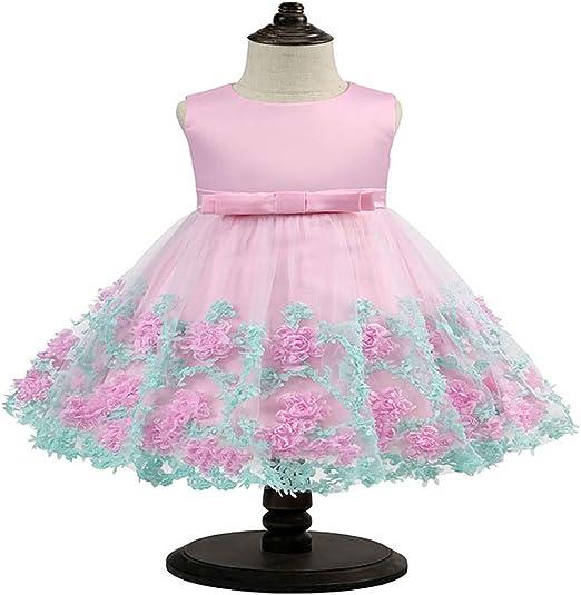 COCKE Vestido for niños Vestido de Princesa Bowknot Vestido de ...