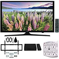 Samsung UN49J5000 - Flat 49 LED HD 5 Series Smart TV (2017) w/ Wall Mount Bundle Includes, Slim Flat Wall Mount Ultimate Kit, HD Digital TV Tuner & SurgePro 6-Outlet Surge Adapter w/ Night Light
