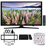 Samsung UN49J5000 - Flat 49'' LED HD 5 Series TV (2017) w/ Wall Mount Bundle Includes, Slim Flat Wall Mount Ultimate Kit, HD Digital TV Tuner & SurgePro 6-Outlet Surge Adapter w/ Night Light