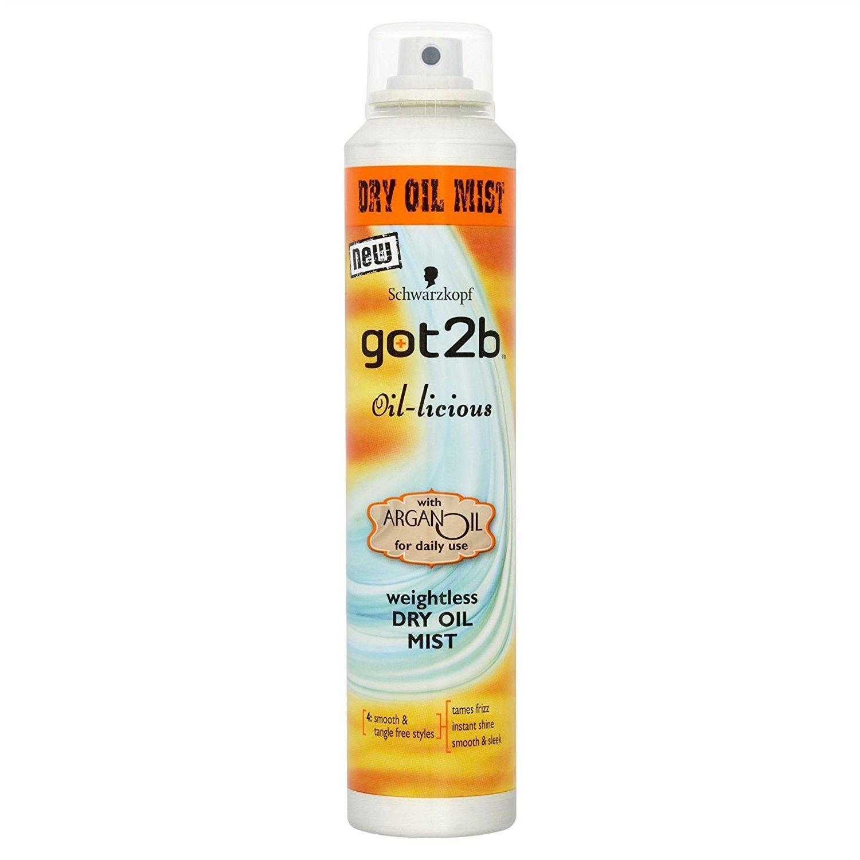 Schwarzkopf got2b Oil-licious Dry Oil Mist Spray 200 - Pack of 6 Schwarzkopf & Henkel 05012583504641