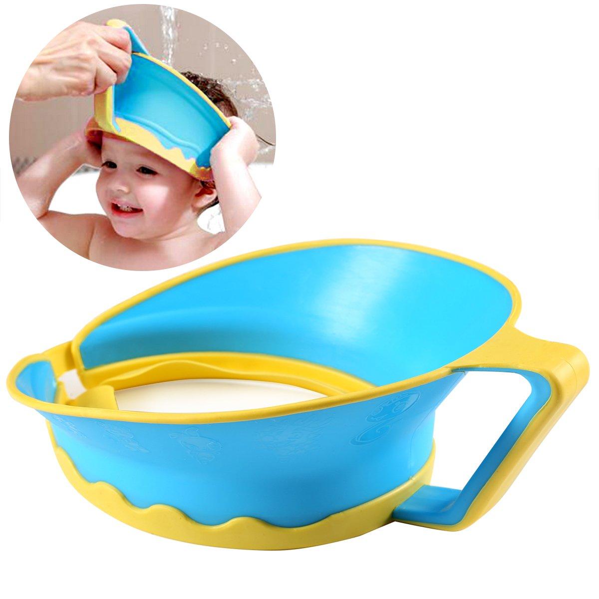 ONEDONE Verstellbarer Baby Kinder Shampoo Baden Dusche Displayschutzfolie Gap Hat Wash Haar Shield ym001