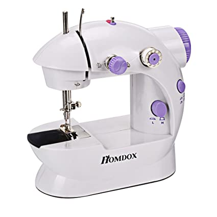 Amazon Homdox Combo Mini 40Speed Double Thread Sewing Machine Custom How To Thread Sewing Machine