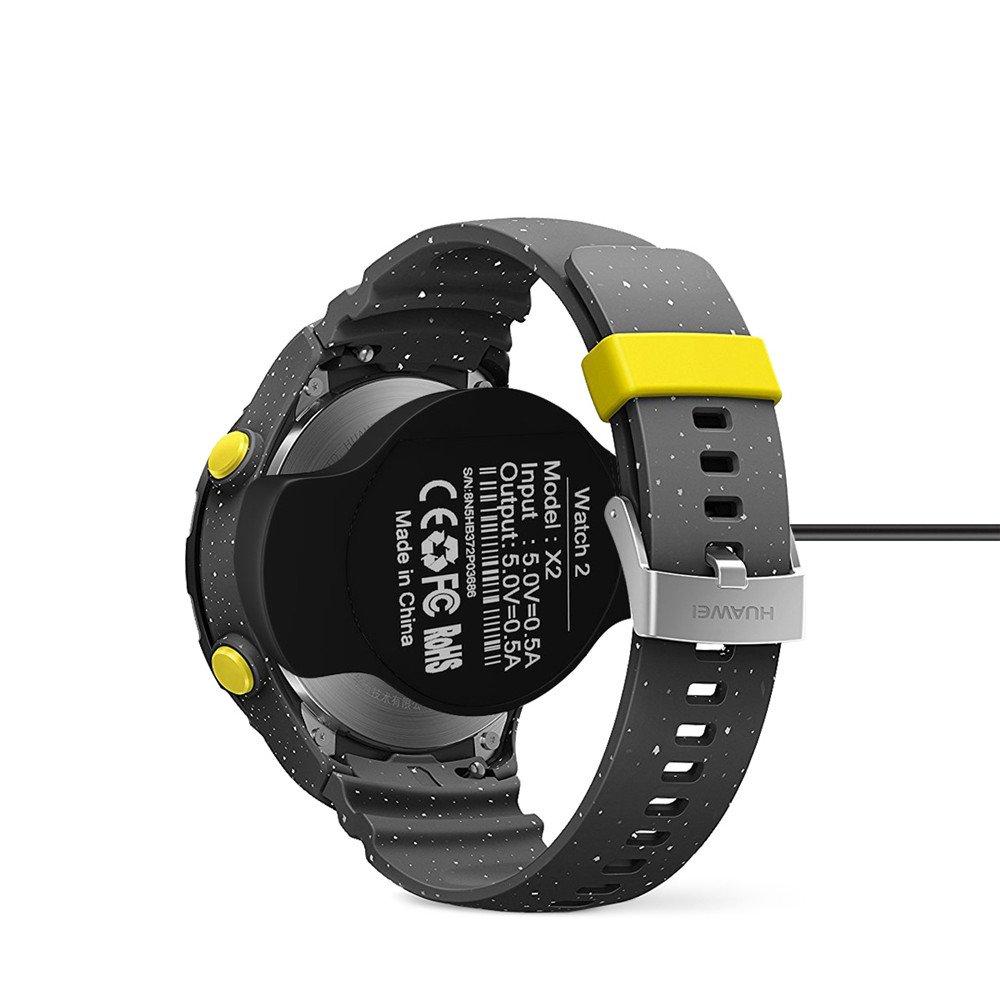 VIFLYKOO Huawei Watch 2 Cargador Desktop Dock Station USB Cable de Carga Adaptador Charger para Huawei Watch 2 Smartwatch - Negro