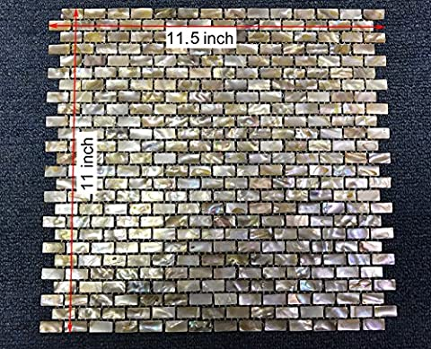 CHOIS Wholesale Mother of Pearl Shell Backsplash I-Shaped Rectangle Tiles Wall Tile B03S - Mother Of Pearl Wall Art
