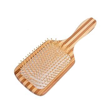 cepillo cabello Masaje bambú Jabalí hairb Rush eliminación Fein Cojín Barba peine naturborsten Hombres Mujer Hombre Peluquería Volumen ventbürste para largo ...