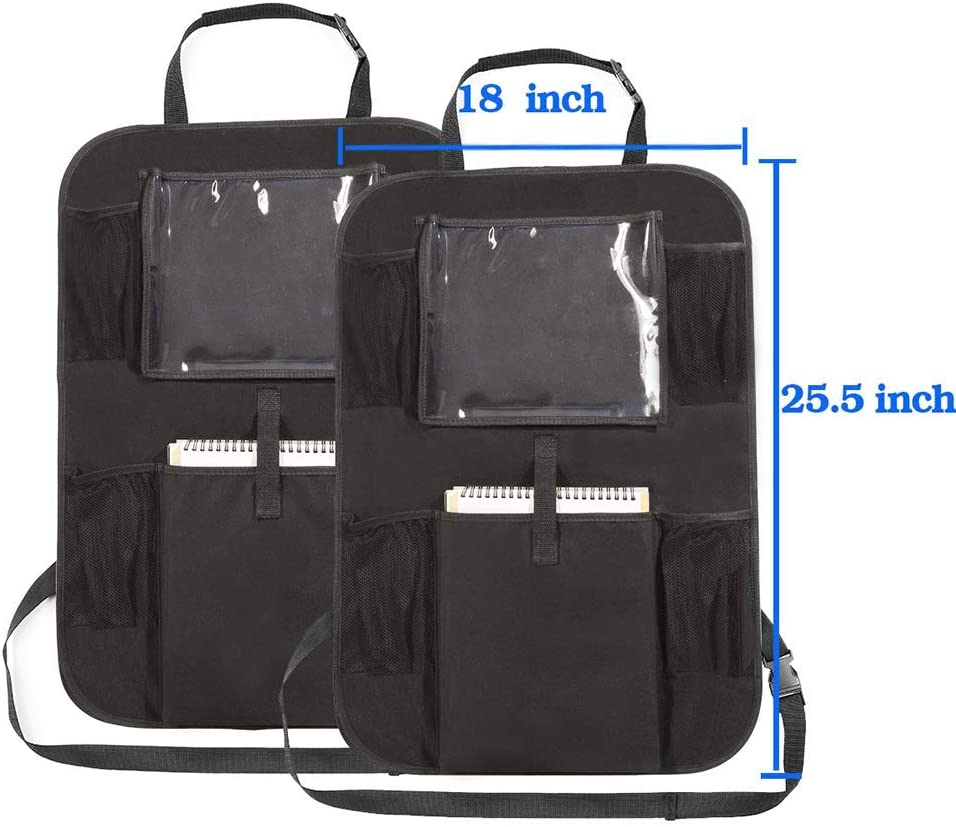 Universal Multi-Bolsillos Organizanizador Heyham 2 Pack Kick Mats de Coche ni/ños accesorios Funda Protecci/ón para Asientos Trasero de Coche Back con Soporte de iPad Organizadores para Coche