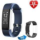 Proze Fitness Tracker Band+ HR Activity Tracker Watch with Heart Rate Monitor Pedometer IP67 Waterproof Sleep Tracker GPS Wearable Smart Bracelet for iOS & Android Smartphones for Women Men Kids
