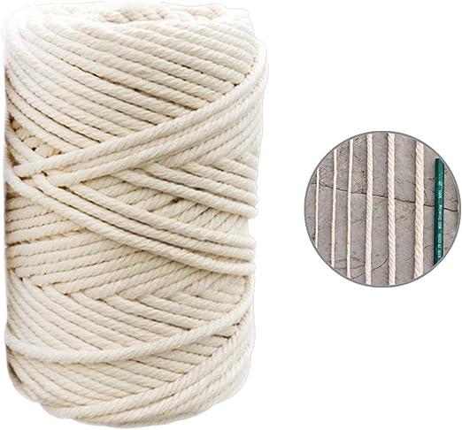 Mixpring cordón macramé de algodón, Cuerda Macramée Blanca para ...
