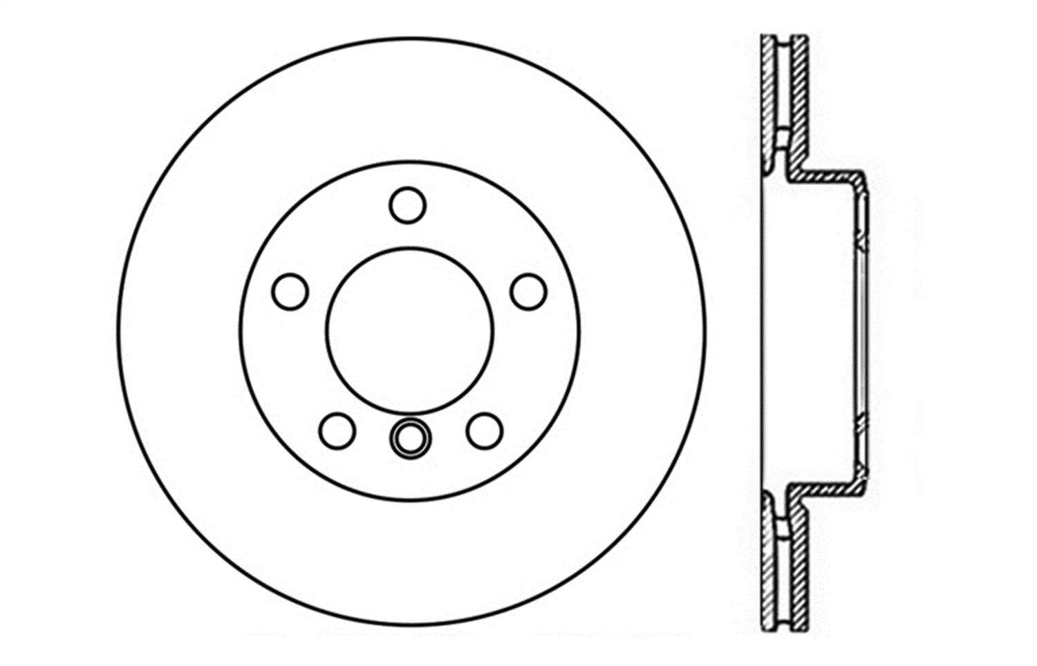 1 Pack StopTech 128.34108L Sport Cross Drilled Brake Rotor Front Left