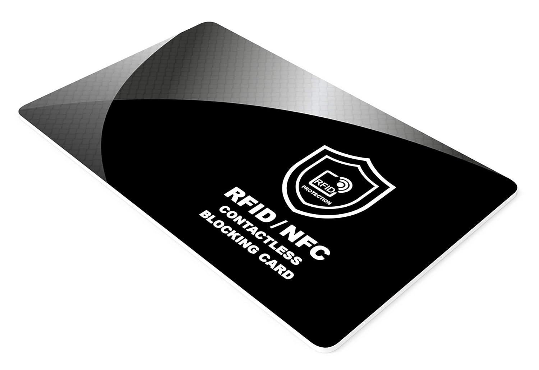 Carte de Blocage RFID, Protecteurs de Carte de Crédit, Protection de Cartes Bancaire, CE, Passeport, pour Tous Le Signaux NFC ou sans Fil, Portefeuilles et Porte Clips, Protège Portefeuille - 1 pièce