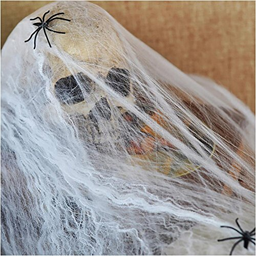 80s Superman Costume (Smartcoco Funny Stretchable Plastic Spider Web With Plastic Spiders, Bachelorette Party Supplies Kids Halloween Decor Props)