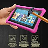 [2 Pack] Orzero For All-New Amazon Kindle Fire HD 8 Kids Edition (2017 release) Tempered Glass Screen Protector, 9 Hardness HD Anti-Scratch Bubble-Free [Lifetime Replacement Warranty]