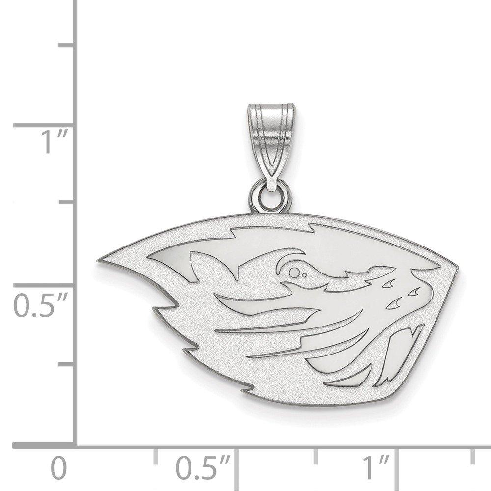 FB Jewels Solid 925 Sterling Silver Oregon State University Medium Pendant