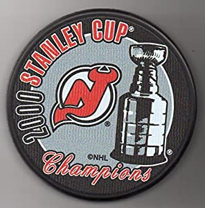 New Jersey Devils 2000 Stanley Cup Champions Official NHL Puck + FREE Puck Cube