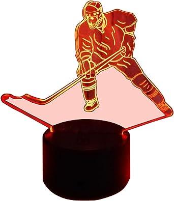 Innowill Eishockey Fans Geschenk Puck Schlittschuhe Deko Nachtlicht Led Lampe 7colors Amazon De Beleuchtung