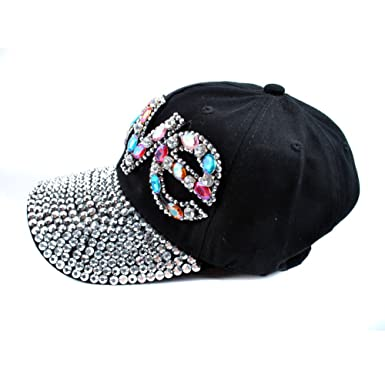 f708fad111c ... best selling 61555 07aa6 Elonmo Cute Letter Love Womens Baseball Cap  Jewel Rhinestone Bling Hats Jeans ...